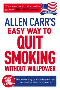 The cover for the book Allen Carr's Easyway To Quit Smoking Without Willpower.